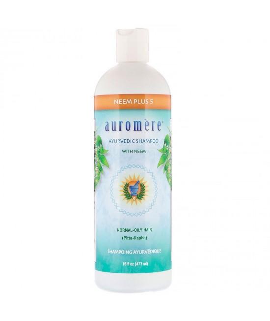 Auromere, Ayurvedic Shampoo with Neem, Neem Plus 5, 16 fl oz (473 ml)