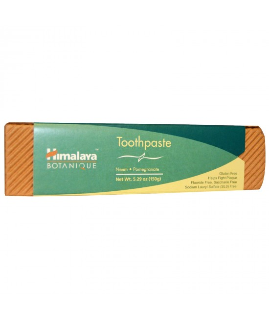 Himalaya, Botanique, Toothpaste, Neem, Pomegranate, Fluoride Free, 5.29 oz
