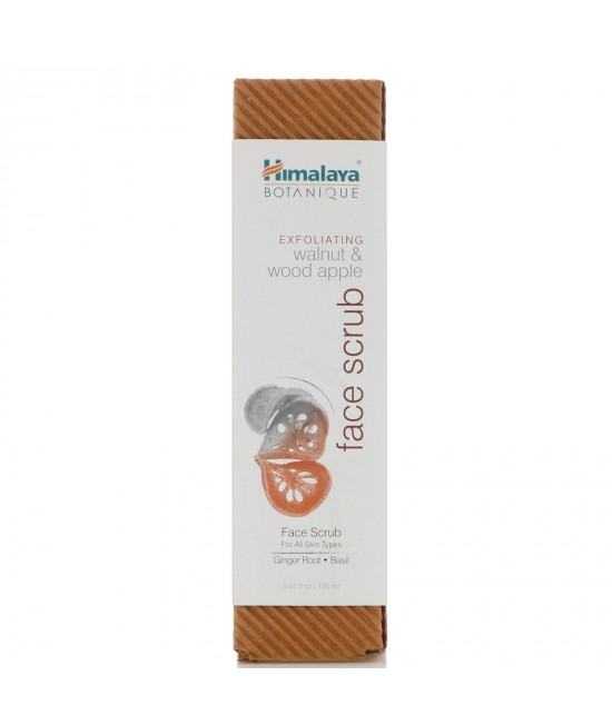 Himalaya, Botanique, Exfoliating Walnut & Wood Apple Face Scrub, 5.07 fl oz (150 ml)