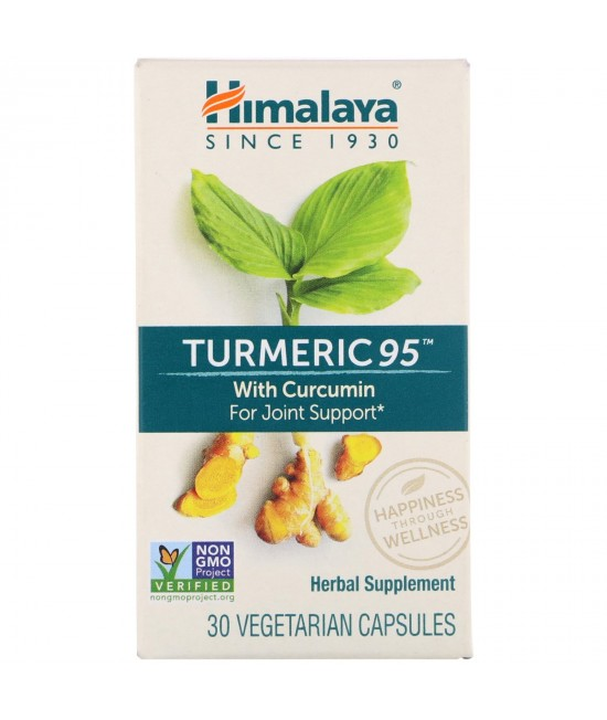 Himalaya, Turmeric 95 with Curcumin for Joint Support, 30 Vegetarian Capsules