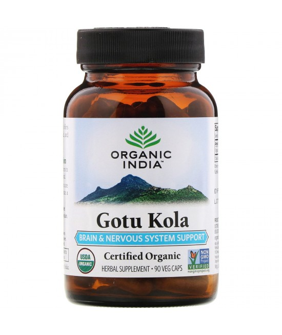 Organic India, Gotu Kola, Brain & Nervous System Support, 90 Veg Caps