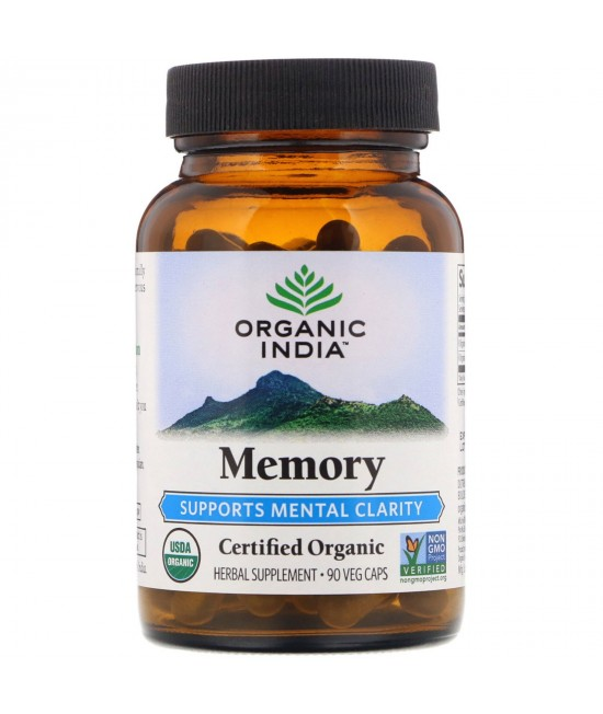 Organic India, Memory, Mental Clarity, 90 Veg Caps