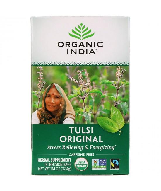 Organic India, Tulsi Tea, Original, Caffeine-Free, 18 Infusion Bags, 1.14 oz (32.4 g)
