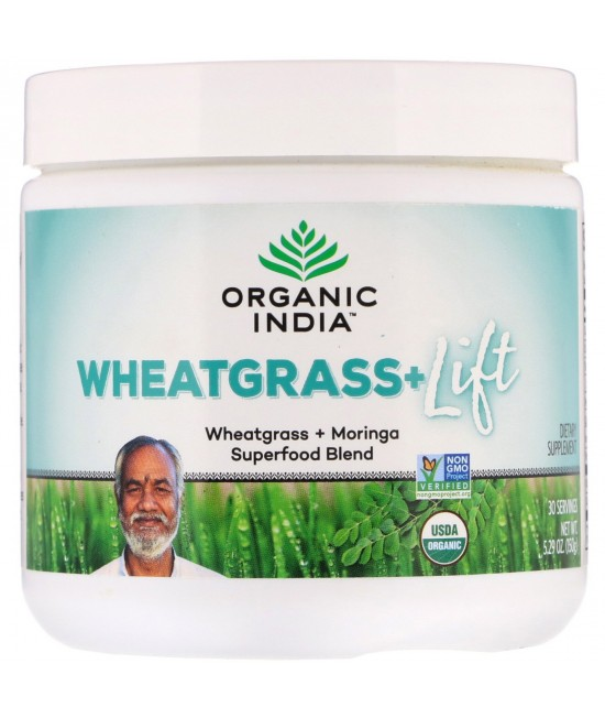 Organic India, Wheatgrass+ Lift, Superfood Blend, 5.29 oz (150 g)